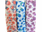 91381 LADIES FLORAL SPOTTED LONG REVERSIBLE NECK WRAP SOFT STOLE SCARF SHAWL