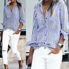 Women's Lady Long Loose Sleeve Chiffon Casual Blouse Shirt Tops Fashion Blouse