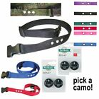 """Heavy Duty 1 """" 3 Hole Replacement Dog Bark Collar Nylon Strap with 4 RFA 67D"""