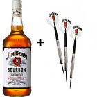 Jim Beam - Set of 3 Brass DARTS 24g with 700mL Bottle (Bundle)