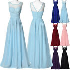 New Chiffon BEADED Wedding Evening Party Ball Gown Prom Bridesmaid Dress size 12