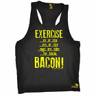 SWPS Exercise Bacon MEN'S Vest body building weights training gym workout whey
