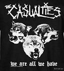 The Casualties T-Shirt Wolves street punk rock Official 2XL  Last and Only NWT