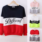 Women Casual Loose Thick Hooded T-Shirt Long Sleeve Hot Colored Sweatshirt OX