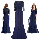 New Full-Length Lace Mother of the Bride Mermaid Evening Party Formal Prom Dress