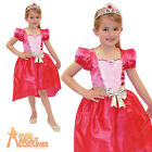 Child Barbie Princess Costume Girls Fairytale Pink Fancy Dress Outfit New