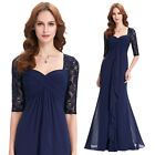 Womens Formal Prom Evening Cocktail Party Bridesmaid Ladies Lace Dress Size 4-18