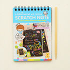 Fashion Notebook Black Cardboard Creative DIY Draw Kid Notebook School Supplies