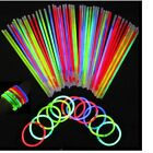 "100 x 8"" Glow Sticks for Bracelet,Necklace Neon Colours Party Favours Rave Disco"