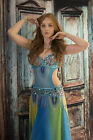 Belly Dance Cut-Out Costume Belly Body Stocking, Dance wear, with Sparkles