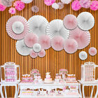 1 Piece Hollowed Paper Wheel Fan Handmade Colorful Wedding Party Decorations