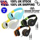 Sound Intone i68 Stereo Folding Portable Headsets Headphones with In-line Mic
