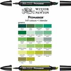 Winsor & Newton Graphic Artist Single Promarkers - Green Colours