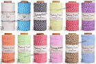 1MM Bakers Twine 100% Cotton 2 Ply Hemptique Macrame Craft String - 410ft Spool