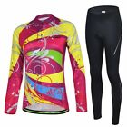 2016 Women Breathable Cycling Bike Long Sleeve Clothing Bicycle Jersey& Pants