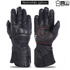 Dry Drum Leather Motorcycle Gloves Summer Motorbike Touch Screen Armour Vented