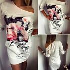 Summer Women Bodycon Floral Party Evening Tunic Pencil Mini Dress Long Tops TXSU