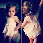 New Baby Girl's Square Neck Sleeveless Bandage Dress and Lace Panties set TXSU