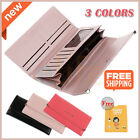 New Lady Women Fashion Clutch Long Purse Leather Wallet Card Holder Handbag Bags