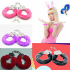 NEW Stylish Furry Fuzzy Handcuffs Soft Metal Adult Night Party Game Gift