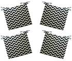 Set of 4 - In Outdoor Black Chevron Universal Foam Chair Cushions ~ Choose Size