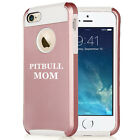 For iPhone X SE 5s 6 6s 7 8 Plus Rose Gold Shockproof Hard Soft Case Pitbull Mom