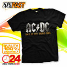 AC/DC ROCK OR BUST WORLD TOUR 2016 band t-shirt felpa maglia musica fan ac dc