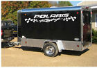 "POLARIS RACING DECAL wFLAGS 16"" X 96"" FOR TRAILER SET OF 2"