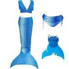 Girls 3pcs Tops Panties Mermaid Tail for Swimming with Mono fin Swimmable wear 1
