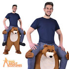 Adult Piggyback Bear Costume Unisex Funny Animal Stag Fancy Dress Outfit New