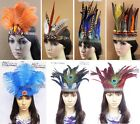 Indian Feather Headband Showgirl Headgear Headpiece Carnival Performance Party