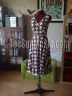 Gorgeous BODEN 50s Vintage Style Polkadot Dress UK Size 8 R Chocolate / White