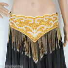 【Extra Large】 100-110 cm Belly Dance Beaded Belt Hip Scarf Dancing Costume AB22