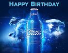 Bud Light Personalized Edible Print Premium Cake Toppers Frosting Sheets 5 Sizes