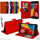 FLIP WALLET STAND LEATHER CASE COVER For MOTO G 2ND GEN G2 (2014) (2015)