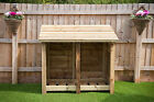 HEAVY DUTY 4 FT TALL DOUBLE BAY LOG STORE WITH VARIOUS OPTIONS