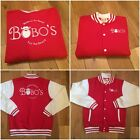 BOBOS BEARD COMPANY RED RETRO BASEBALL JACKET COAT ALL SIZES SMALL - XXL