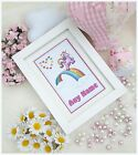 Personalised UNICORN RAINBOW*Photo Frame*Christening*Keepsake*Gift*Bedroom*Girl