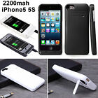 2200mAh External Power Pack portable Backup Battery Power Case For iPhone5 5S SE