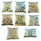 Beach cushions, by Sally Swannell, Seaside scenes, Beach Huts, Lighthouse, Lo...