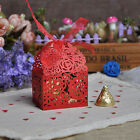 Flower Wedding Candy Gift Box With Ribbon Party Event Decoration Supplies 50pcs