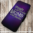 Muggle in the Streets ...Sheets - Printed Faux Leather Cover Case Flip Style