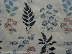 CHESS DESIGNS BOTANICAL BLUE LINEN FABRIC CURTAINS/CUSHIONS/ROMAN BLINDS
