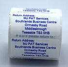 1000 Personalised Return Address Labels printed with coloured ink Tough nonrip