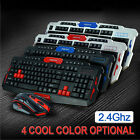 Multimedia 2.4GHz Wireless Pro Gaming Keyboard and Mouse Set for Desktop PC Lapt