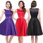 2016 ROCK N ROLL VINTAGE Dresses 60's 50's Housewife Pinup Prom Swing SIZE S~XL