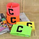 Professional Football Soccer Captain Armband Bands Fluorescent Adjustable E2U