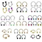 Horseshoe with Gem - Cartilage Upper Ear Ring - Tragus Helix Eyebrow Top Earring