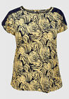 New with tags Tommy & Kate Navy & Yellow Swirl Top Plus Size 16/18 FREEPOST