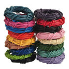 5M Real Leather Round Rope String Cord Necklace Making Craft 1.5/2.0 mm 14Color